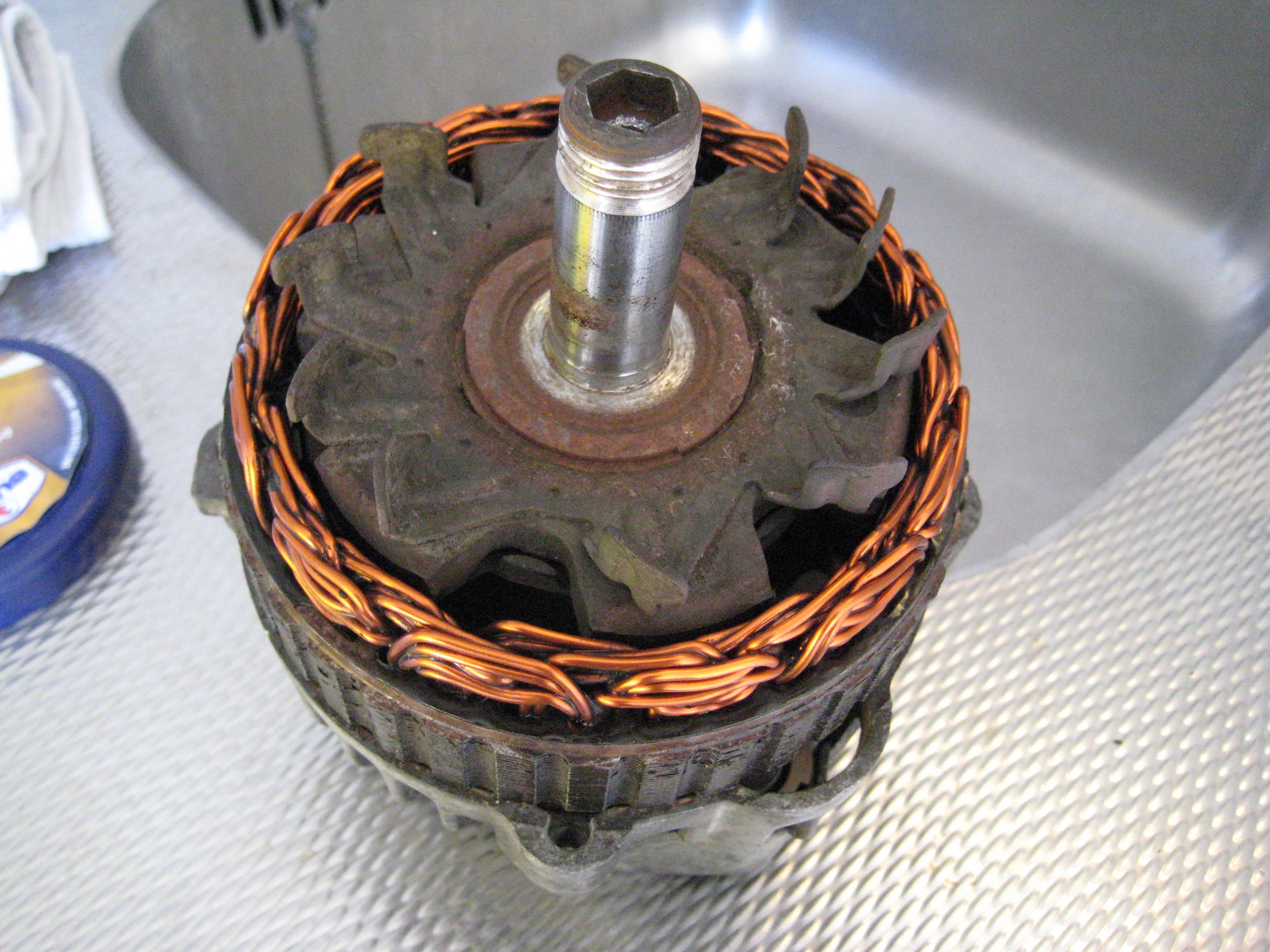 De rotor is nu geïnstalleerd